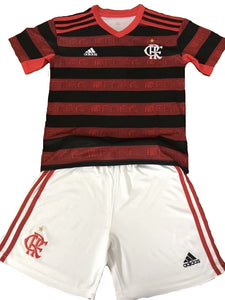 1e262946fc4 Kids Flamengo Home 2019 Youth Jersey Football Soccer Kit 19/20 - Strikers  Ville