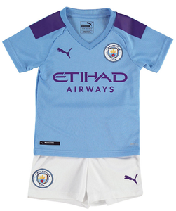 the latest 311e0 616bc Kids Manchester City FC Home 2019/2020 Youth Jersey Football Soccer Kit  19-20
