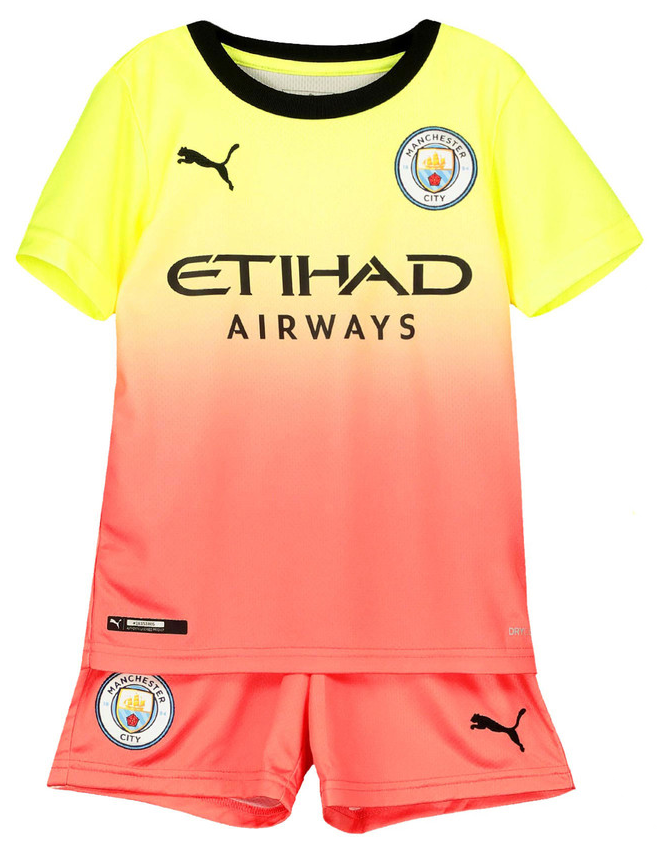 check out f2449 adde9 Kids Manchester City 3rd Third 2019/2020 Youth Jersey Football Soccer Kit  19-20