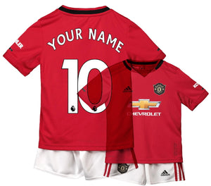 sports shoes b110c 62468 Kids Custom Name Number Manchester United Home 2019/2020 Youth Jersey  Football Soccer Kit 19-20