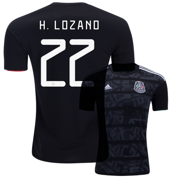cheaper 55156 00980 H. LOZANO #22 Mexico Home 2019 Men Jersey Football Soccer 19/20
