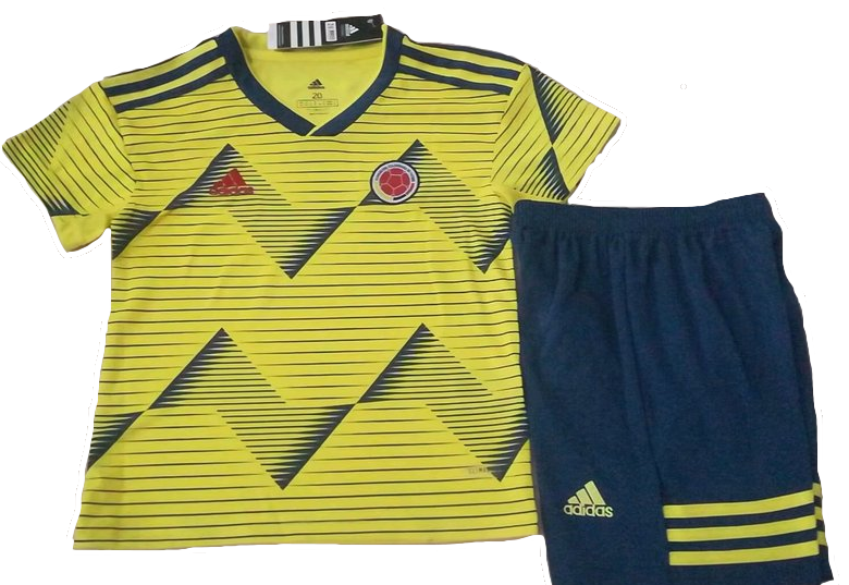 Kids Colombia Home 2019 Youth Jersey Football Soccer Kit 19/20
