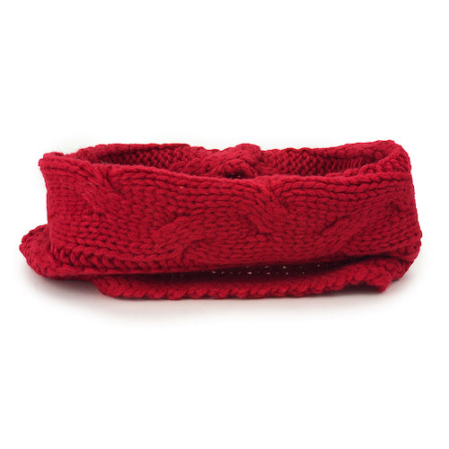 Cable Knit Snood - Chilli