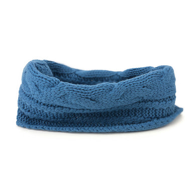 Cable Knit Snood - Pacific Blue