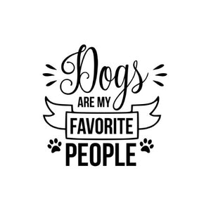 Dogs Are My Favourite People Car Decal Winston Ruby