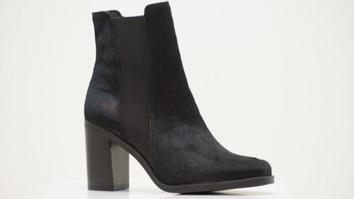 Leather Hair Chelsea Boots