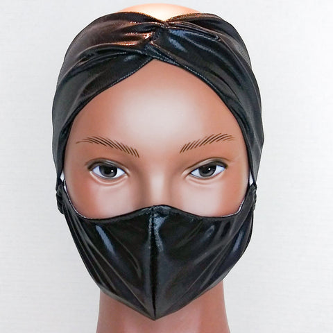 GLAM HEADBAND & MASK SETS Black