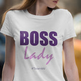 Boss Lady - Ladies' Scoopneck T-Shirt