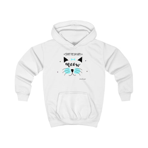 Start the Day with Meow Youth Hoodie