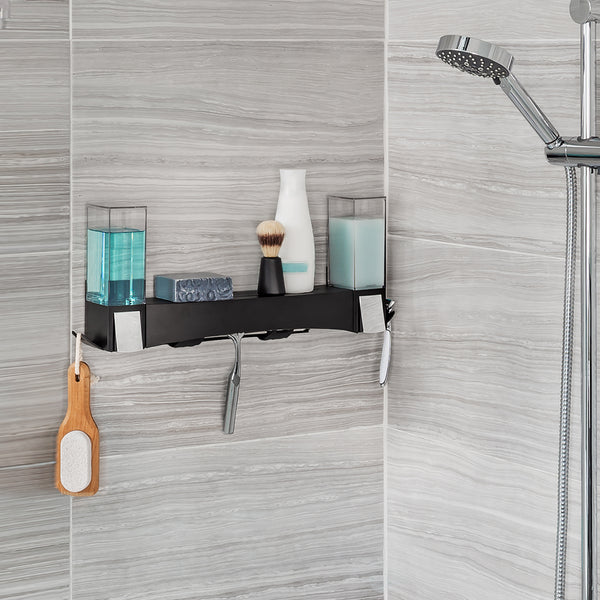 CLEVER 2 X Soap Dispensers + Shower Shelf