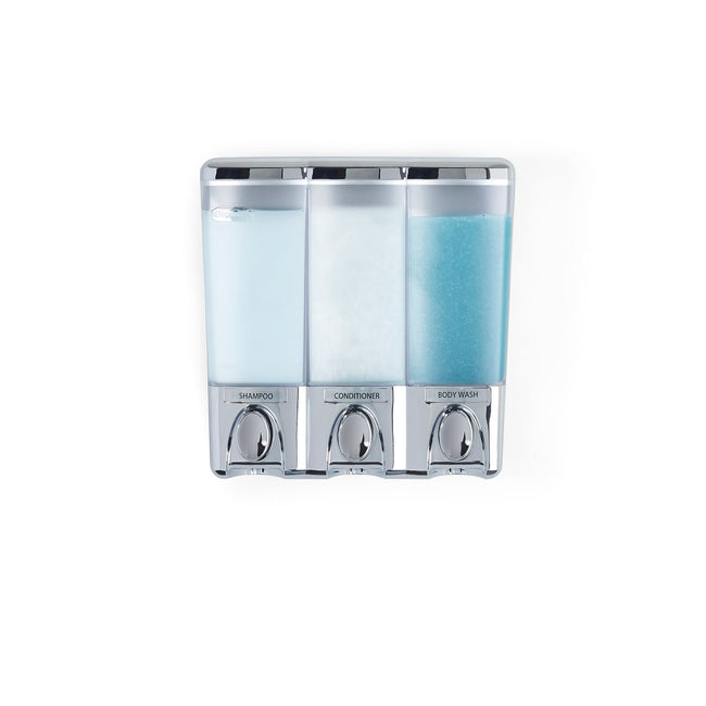 CLEAR CHOICE Shower Dispenser 3 Chamber - Better Living Products USA