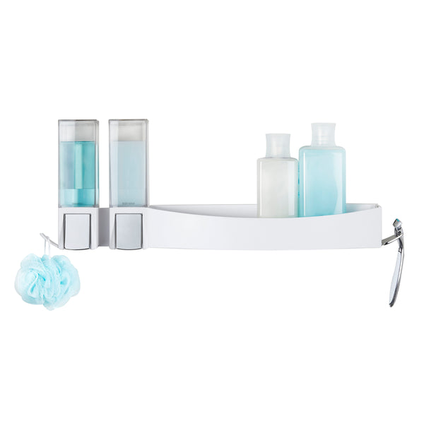 CLEVER Double Dispenser + Shower Shelf - Better Living Products Canada