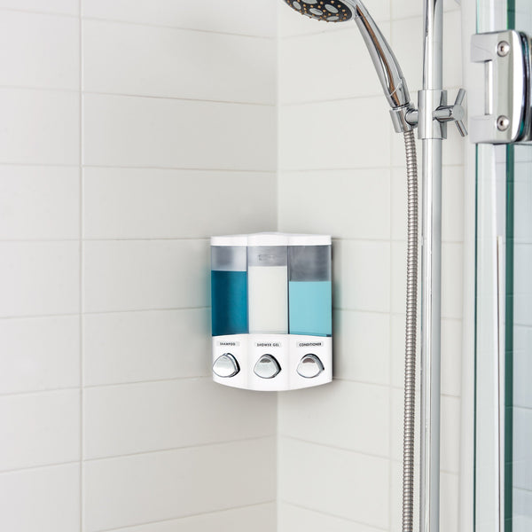 TRIO Shower Dispenser 3 Chamber - Better Living Products Canada