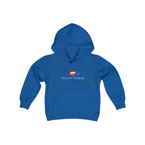 """I Heart My Steady Horse"" Kids Hooded Sweatshirt"