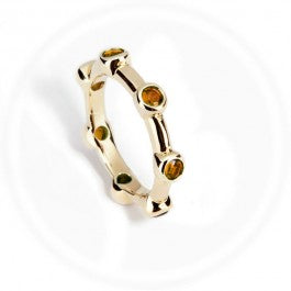 Citrine Stacker Ring 9ct