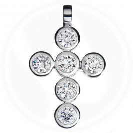 Fancy Diamond Cross 18ct