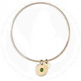 Gold Birthstone Bangle