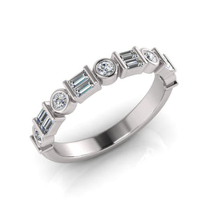 Sterling Silver Cubic Zirconia Ring 696