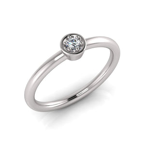 Sterling Silver Cubic Zirconia Ring 701