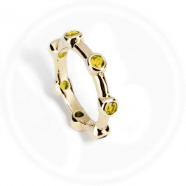 Light Citrine Stacker Ring 9ct