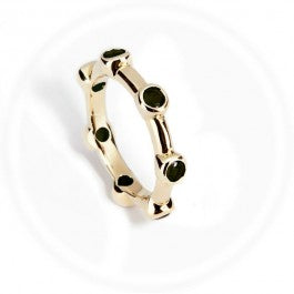 Onyx Stacker Ring 9ct