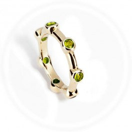 Peridot Stacker Ring 9ct