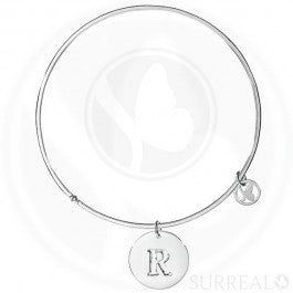 Round Bangle Letter R