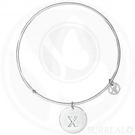 Round Bangle Letter X