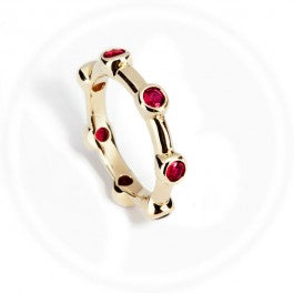 Ruby Stone Stacker Ring 9ct