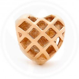 Lattice Heart Charm