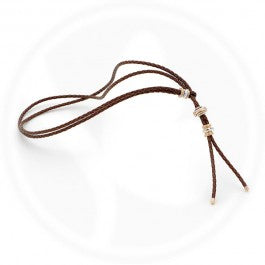 Lanyard Wrap Brown Leather