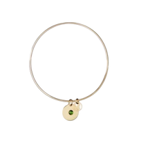 Load image into Gallery viewer, Gold Birthstone Bangle