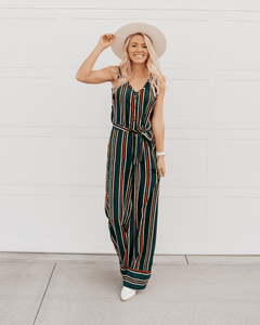 Bailey's Blossom's Striped Jumpsuit