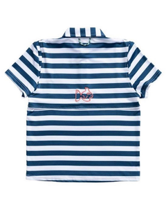 Prodoh Performance Polo in Blueberry Stripe
