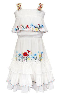 Hannah Banana Ruffle Tiered Midi Dress