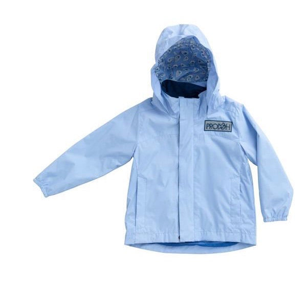 Prodoh Water & Wind Reflective Jacket in Baby Blue Jay