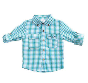 Prodoh WindowPane Shirt in Lagoon