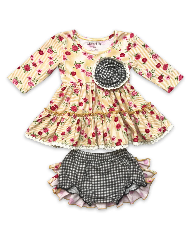 Mustard Pie Strawberry Fields 2 Piece Set