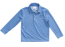 Prodoh Long Sleeve Performance Polo in Baby Blue Jay Stripe