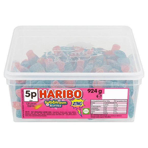 Haribo Bubblegum Bottles Tub Of 120
