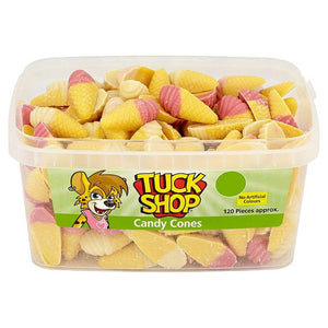 Tuck Shop Candy Cones Tub Of 120