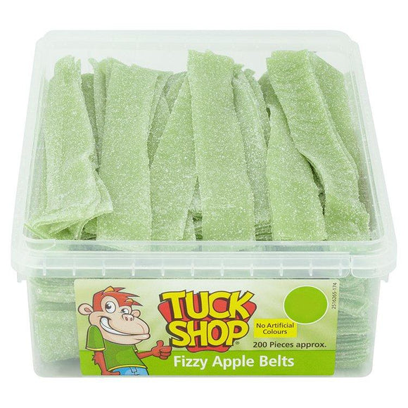 Tuck Shop Fizzy Apple Belts Tub Of 200