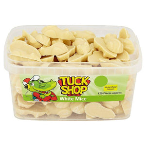 Tuck Shop White Mice Tub Of 120