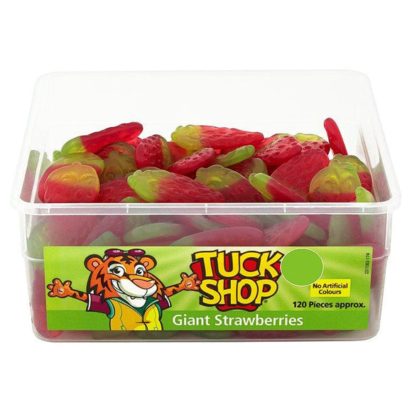 Tuck Shop Giant Strawberries Tub Of 120