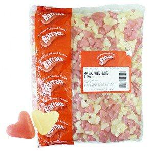 Barratt Pink And White Hearts - 3Kg