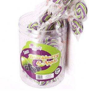 Fun Kandy Black & Apple Pops - 50 Count