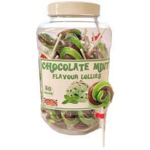 Chocolate Mint Lollies - 50 Count