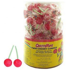 Crest Twin Cherry Lollipops - 75 Count