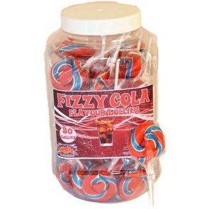 Fizzy Cola Lollies - 50 Count