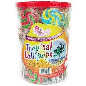 Fun Kandy Tropical Pops - 50 Count